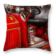 Fireman - Fire Engine No 3 Throw Pillow by Mike Savad