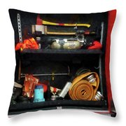 Fireman - Fire Fighting Supplies Throw Pillow