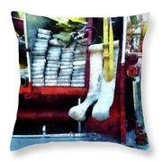 Fireman - Hoses On Fire Truck Throw Pillow