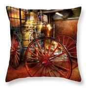Fireman - One Day A Long Time Ago  Throw Pillow