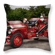 Fireman - Phoenix No2 Stroudsburg Pa 1923  Throw Pillow by Mike Savad