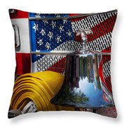 Fireman - Red Hot  Throw Pillow by Mike Savad