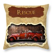 Fireman - Rescue - Police Throw Pillow by Mike Savad