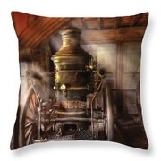 Fireman - Steam Powered Water Pump Throw Pillow