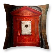 Fireman - The Fire Box Throw Pillow