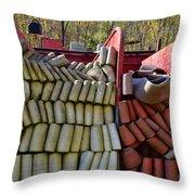 Fireman Vintage Hoses Throw Pillow