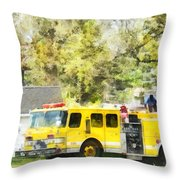 Firemen - Back At The Firehouse Throw Pillow