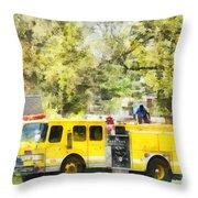 Firemen - Back At The Firehouse Throw Pillow