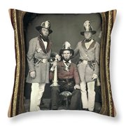 Firemen, C1855 Throw Pillow