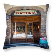 Firenze Trattoria Throw Pillow