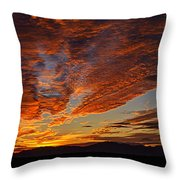 Firery Desert Skies  Throw Pillow