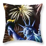 Fires Of Liberty Throw Pillow