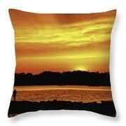 Fireside Chat Throw Pillow