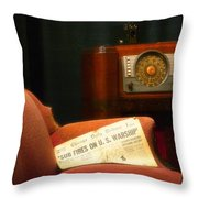 Fireside Chats With Fdr 01 Throw Pillow