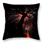 Firetree Throw Pillow