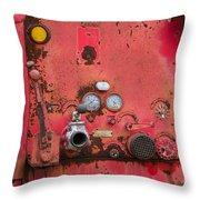 Firetruck Red Throw Pillow