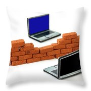 Firewall Protection For Laptops Throw Pillow