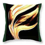 Firewater 2 - Buy Orange Fire Art Prints Throw Pillow