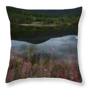 Fireweed Number 7 Throw Pillow