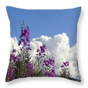 Fireweed Sky Throw Pillow