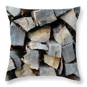 Firewood Throw Pillow