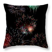 Colorful Explosions No2 Throw Pillow