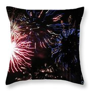 Firework - Saint Denis - Ile De La Reunion - Reunin Island - Indian Ocean Throw Pillow
