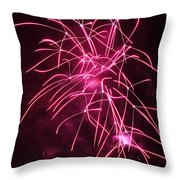 Rockets Red Glare Fireworks Throw Pillow