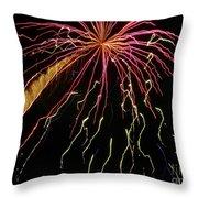 Fireworks 11 Throw Pillow