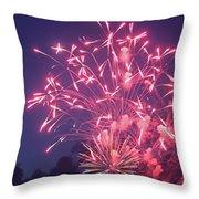 Fireworks 2014 X Throw Pillow