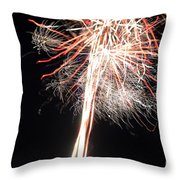 Fireworks 45 Throw Pillow