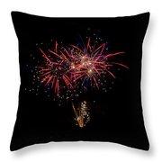Fireworks 52 Throw Pillow