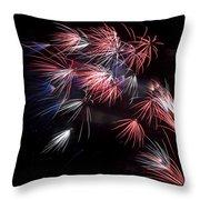 Fireworks 9 Throw Pillow by Sandy Swanson