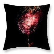 Fireworks Are Shot Off Over Lake Tahoe Throw Pillow