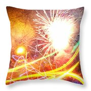 Fireworks As A Painting Throw Pillow