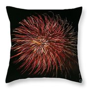 Fireworks At Night 5 Throw Pillow