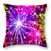 Fireworks At Night 7 Throw Pillow