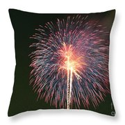 Fireworks At Night 9 Throw Pillow