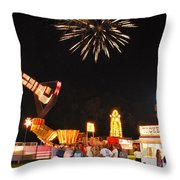 Fireworks At The Carnival Throw Pillow