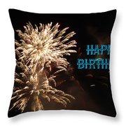 Fireworks Birthday Throw Pillow