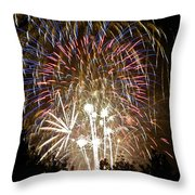 Fireworks Bursts Colors And Shapes 1 Throw Pillow