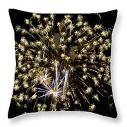 Fireworks Bursts Colors And Shapes 4 Throw Pillow
