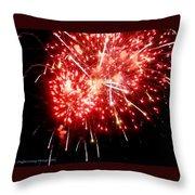 Fireworks Display At Niagara Falls Throw Pillow