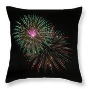 Fireworks Exploding Throw Pillow