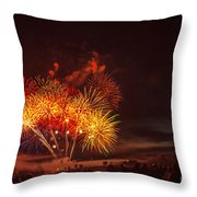 Fireworks Finale Throw Pillow by Robert Bales