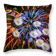 Fireworks Flower Abstract Throw Pillow