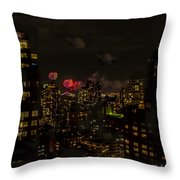 Fireworks From My Window 1 - Manhattan Throw Pillow