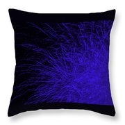 Fireworks In Blue Throw Pillow