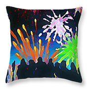 Fireworks In Halifax Throw Pillow
