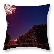 Fireworks In St. Charles Throw Pillow by Cindy Tiefenbrunn